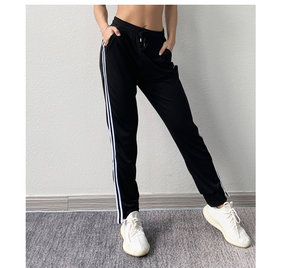Striped Sports Training Pants for Women Womens Clothing Pants