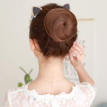 LUPU парик прямые волосы голова шарика парик кольцо пушистый натуральный цветок бутон голова человеческие волосы блюдо волос устройство древний костюм маленький b