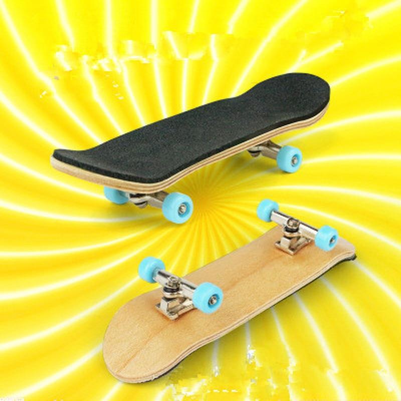 New Complete Wooden Fingerboard With Bearings Wheel Foam Tape Set Free Shipping