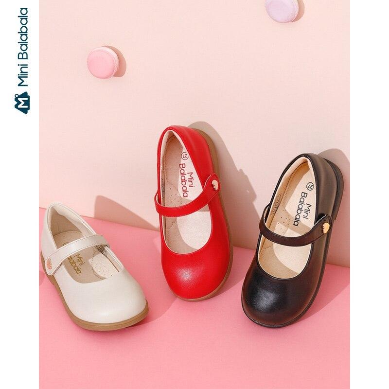 Mini Bala Girls Shoes Princess Shoes Children Shoes 2020 Spring New Shoes Children Shoes Soft Bottom Leather Shoes