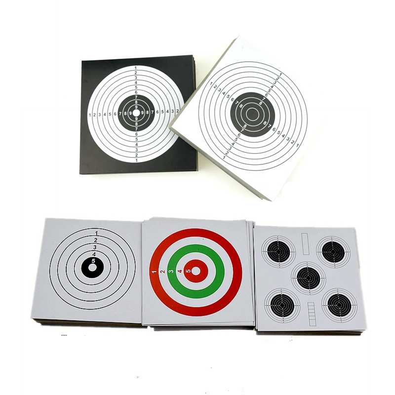 Gran calidad 14cm embudo tiro soporte del objetivo Pellet Trap con 100 papel para Rifle de aire/Airsoft tiro práctica