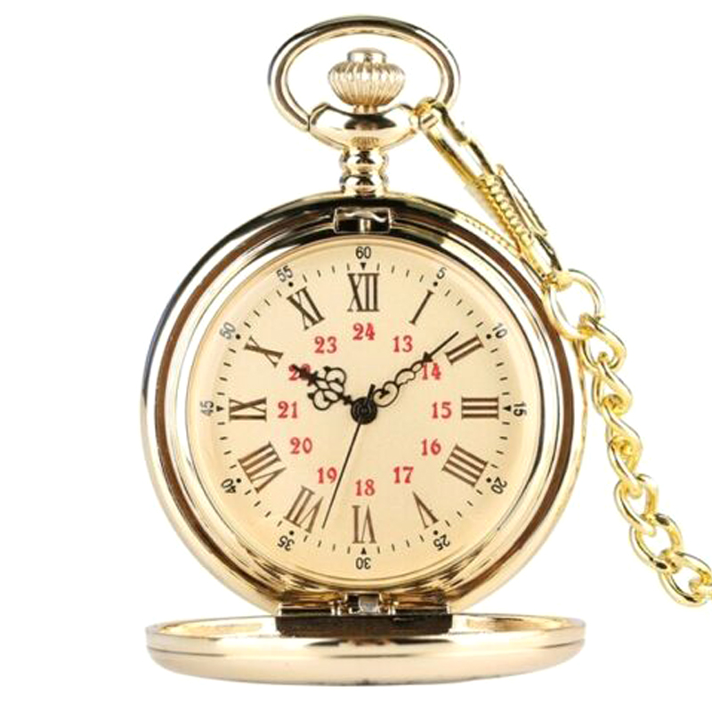 Quartz Pocket Watch Numeral To My Son Love Roman Round Display Vintage With Gift Box TY53
