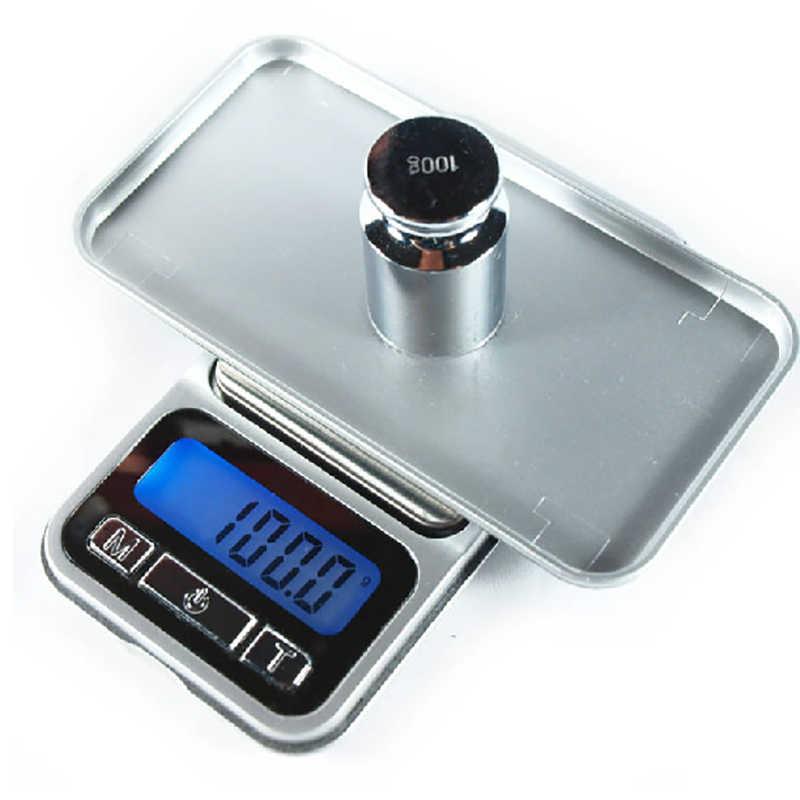 Balance électronique de téléphone d'échelle de 100/200/500g Mini avec l'affichage de contre-jour d'affichage à cristaux liquides de plate-forme de pesage d'acier inoxydable