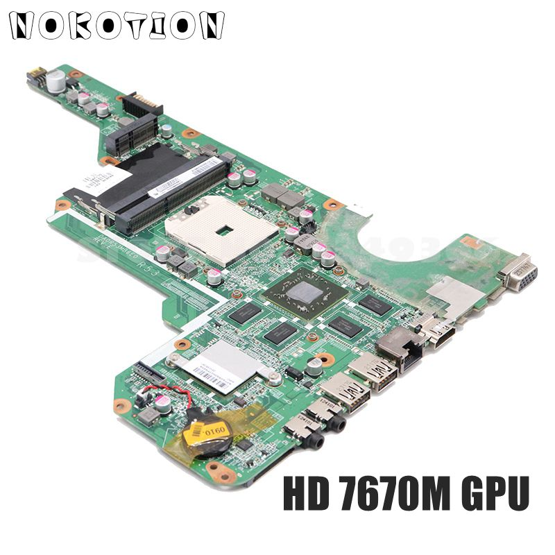 NOKOTION 683030-501 683030-001 For Hp Pavilion G4 G6 G4-2000 G6-2000 G7Z-2100 Laptop Motherboard <font><b>HD</b></font> <font><b>7670M</b></font> DDR3 image