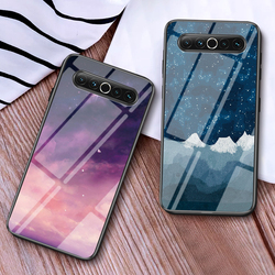 На Алиэкспресс купить стекло для смартфона starry sky tempered glass case for meizu 17 pro silicone frame hard plastic back phone cover for meizu 17 pro cover funda