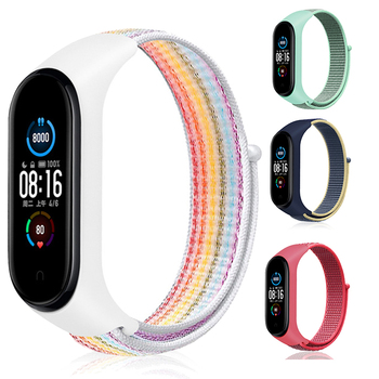 Nylon Strap for Xiaomi Mi band 6 4 3 5 Bracelet Wristband Sports Breathable Bracelet For Miband 6 5 4 3 Replacement Strap 1