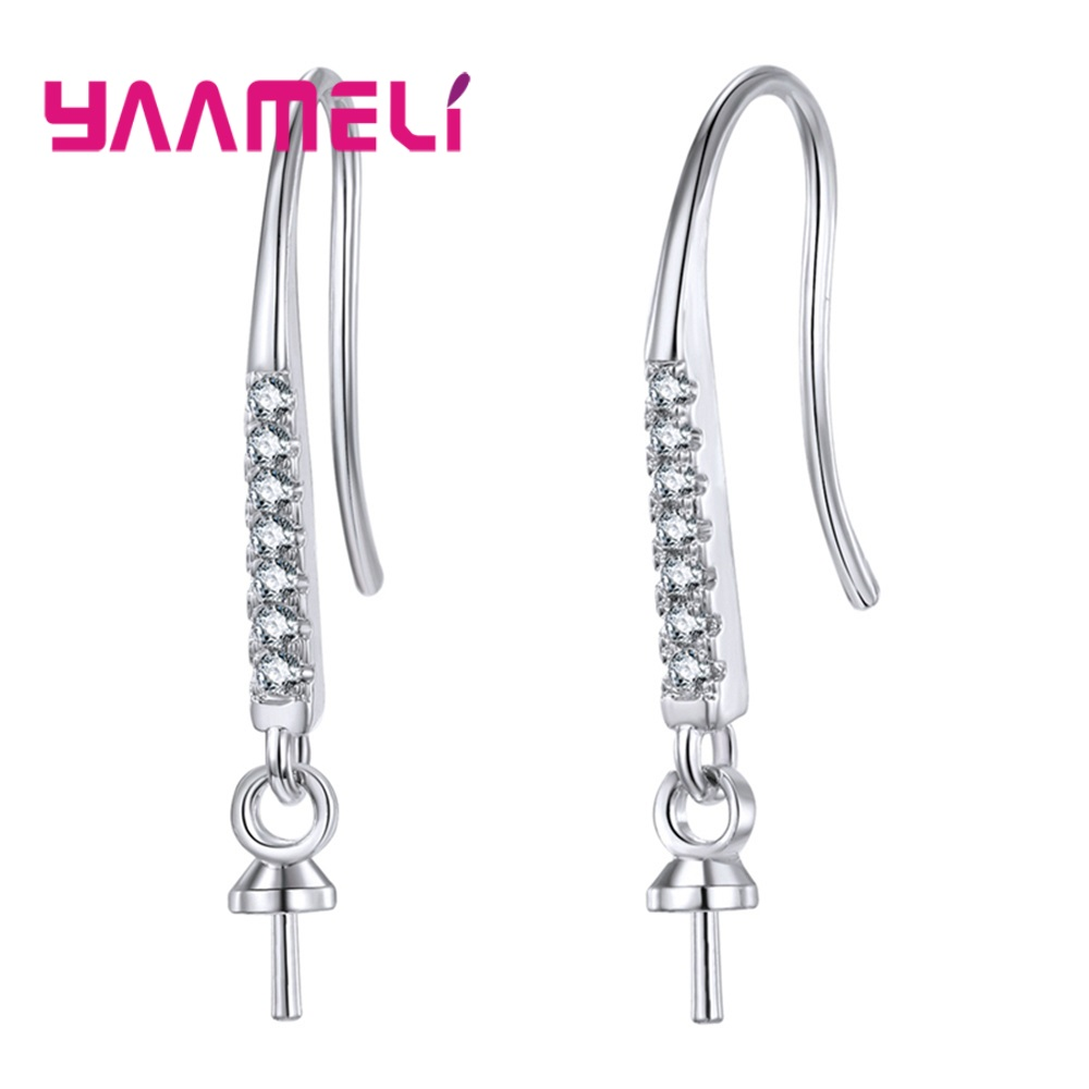 Earring Hooks Original 925 Sterling Silver Jewelry for DIY Earring Making Components Jewelry Finding Supplies