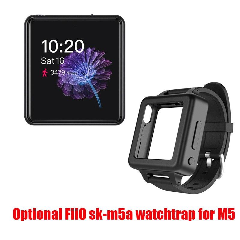 Fiio m5 hi res bluetooth alta fidelidade música portátil mp3 player usb dac baseado android com aptx hd, fiio opcional sk m5a watchtrap para m5 - 6