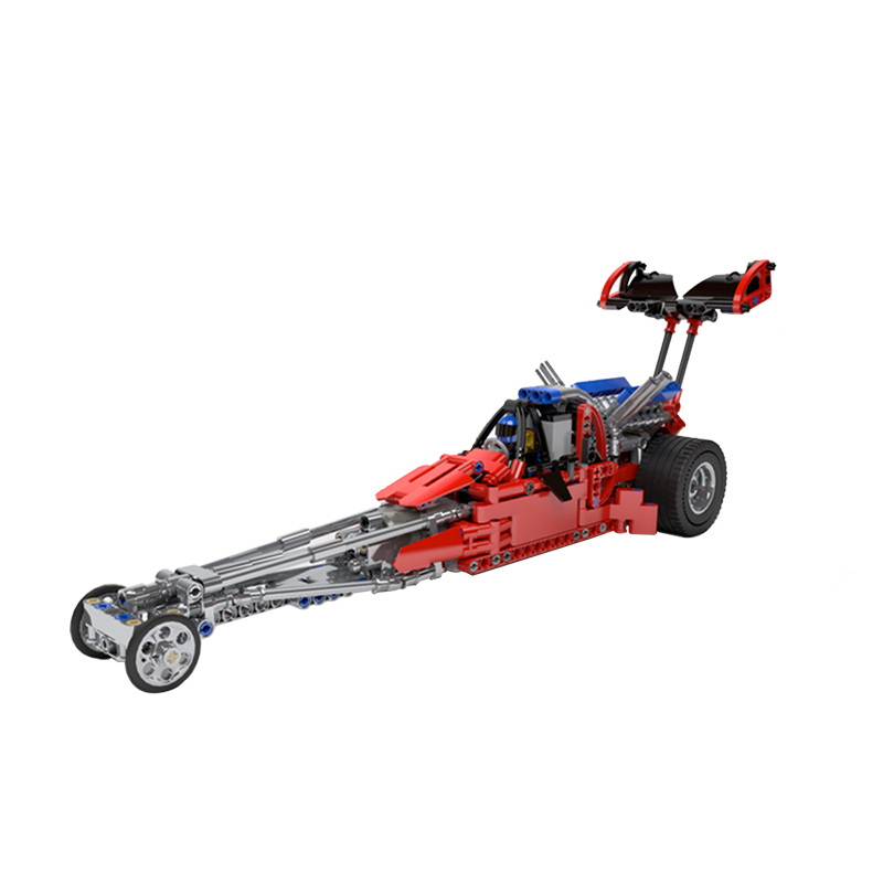 MOC-7869 The Drag Formula Racing Car Model Building Blocks Sets Educational DIY Bricks Toys Compatible Technic Block