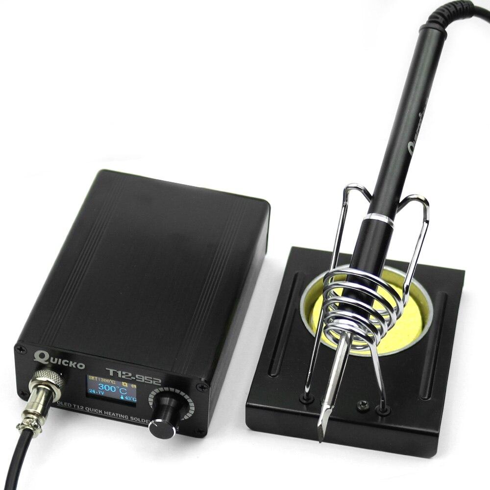 Estación de soldadura Digital 0,96 electrónica STC T12 952 OLED con soporte de hierro C011/Alambre de estaño de soldadura/soldador de T12 K|Soldadores eléctricos|   - AliExpress