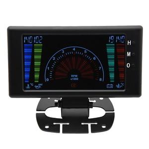 """Image 5 - 5 """"LCD 6 in 1 çok fonksiyonlu LCD otomatik araba ölçer ölçer volt saat RPM su sıcaklığı yağ sıcaklığı yağ basıncı araba ölçer voltmetre"""