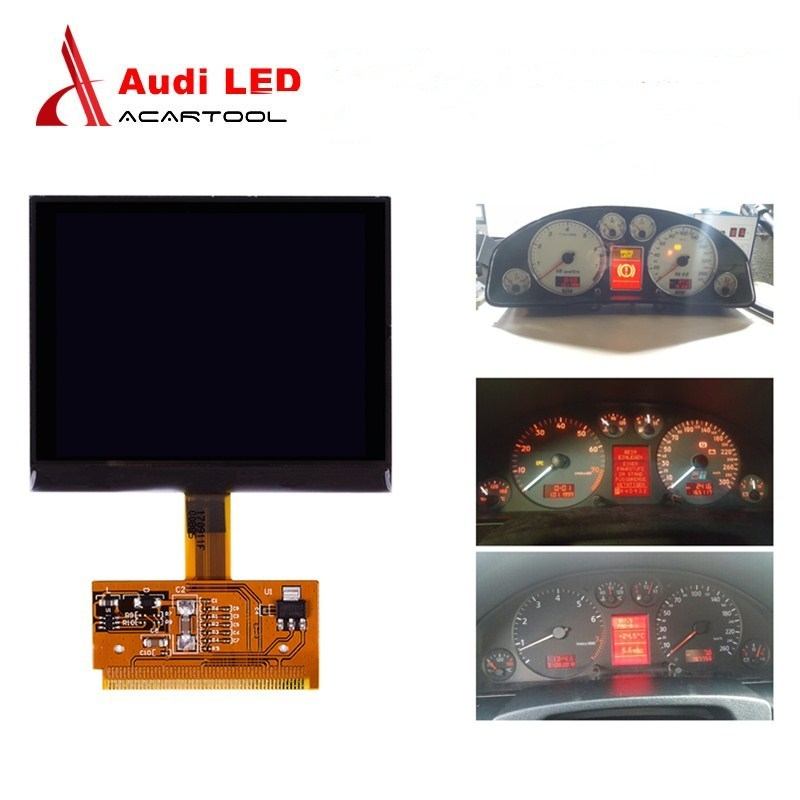 For Audi LCD Instrument Cluster Dashboard Pixel Repair Gauge Cluster Display Screen For Audi A3/A4/A6 VDO For VW Golf/Passat/Sea