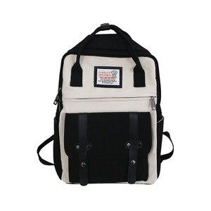 Image 5 - Nouvelle tendance femme sac à dos mode décontracté femmes sac à dos étanche en Nylon sacs décole adolescente sacs à bandoulière femme