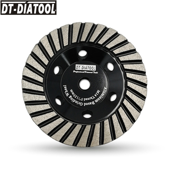 DT-DIATOOL 1pc Dia 125mm/5inch Aluminum Based Grinding Cup Disc M14 thread #100 Diamond Grinding Wheel for Granite Marble