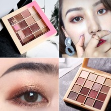 16 Colors Eye Shadow Palette Long Lasting Matte Glitter Eye Makeup Shimmer Eyeshadow Palette Women Cosmetics zhenduo 15 colors shimmer matte glitter eyeshadow natural long lasting eye shadow palette pigment beauty makeup palette