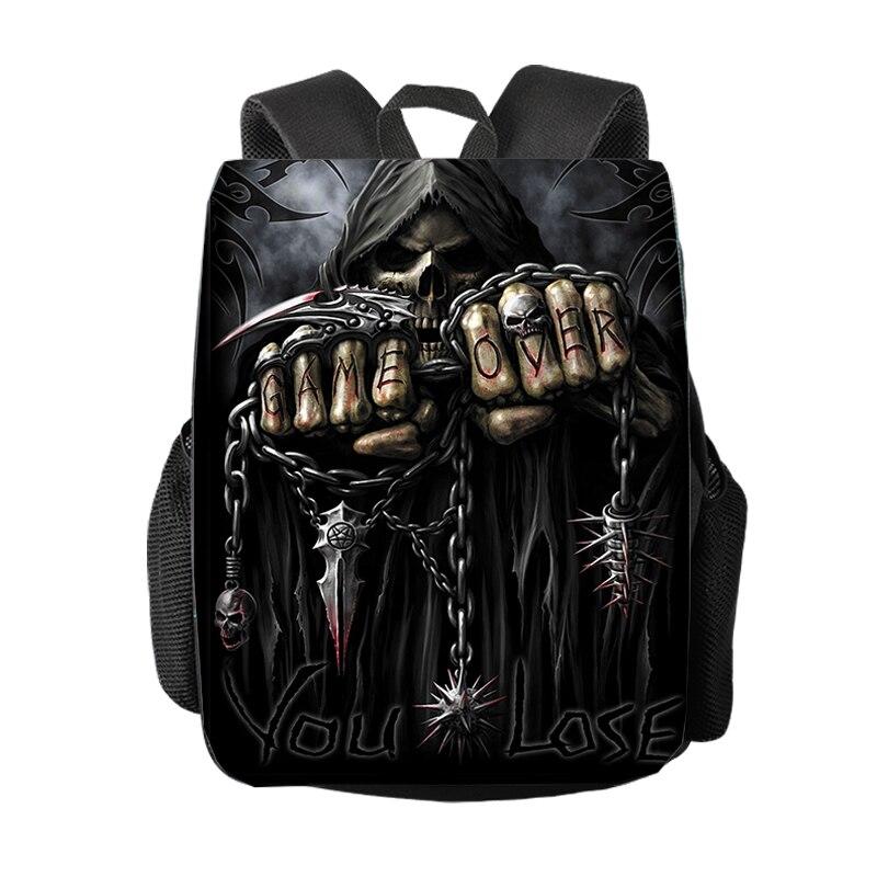 Cool Death Skull / Grim Reaper Backpack Women Men Travel Bag Student Rucksack Children School Bags Backpack Boys Girl Daypack