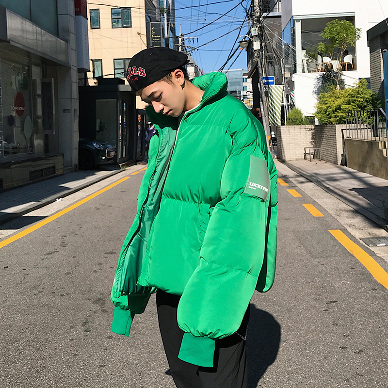 Parka Men's Jacket Itself Harajuku Hip Hop Stranger Things Streetwear Winter North Coat Cotton-padded Clothes Thickening Warm