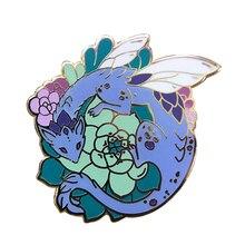 Suculento dragón esmalte Pin cactus jardín