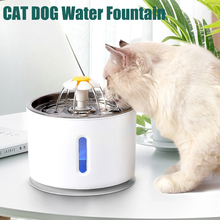 Automatic Cat Water Fountain LED Electric USB Dog Cat Pet Mute Drinker Feeder Bowl Pet