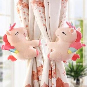 Image 3 - 2pcs Unicorn Window Curtain Hook Straps  Bedroom Buckle Hangers Belt Tieback Buckle Kids Children Bedroom Decorative Accessories