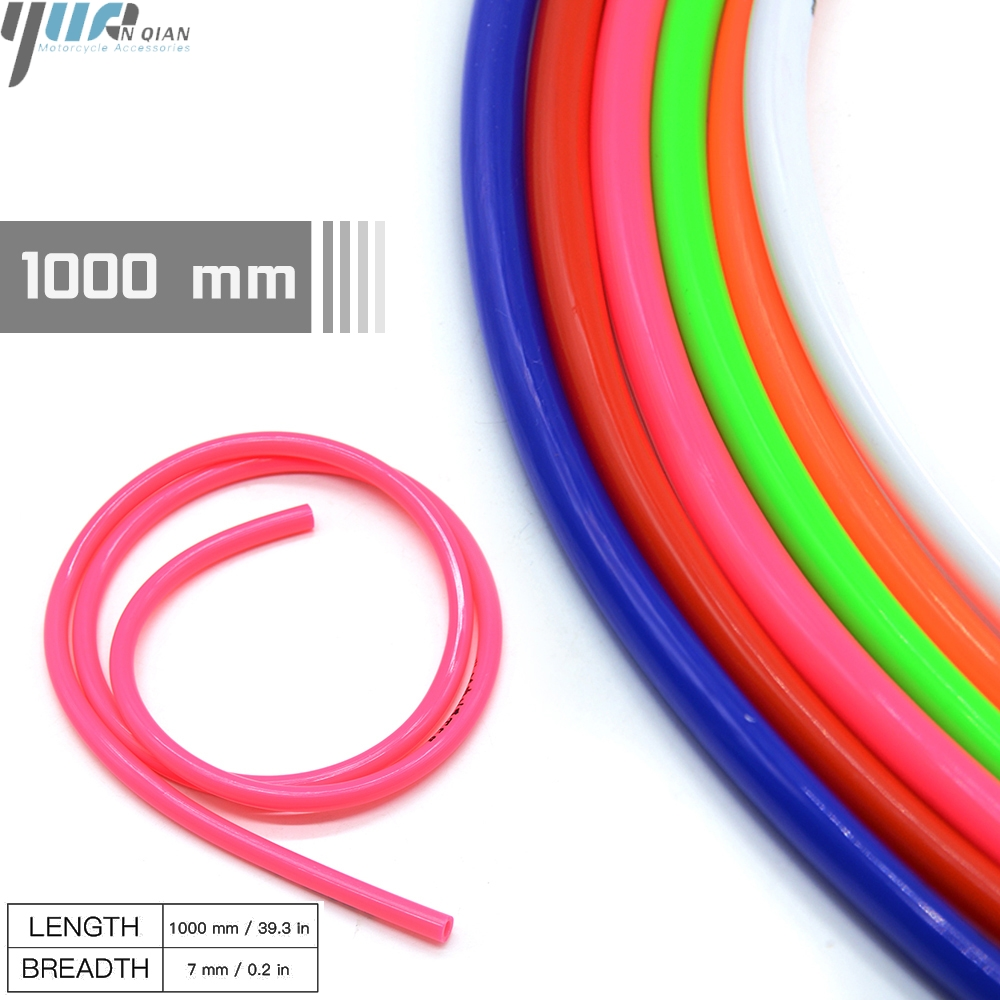 Red Gas Line Pipe 1M Colorful Gas Oil Hose Fuel Line Petrol Tube Pipe for Motorcycle Dirt Pit Bike ATV