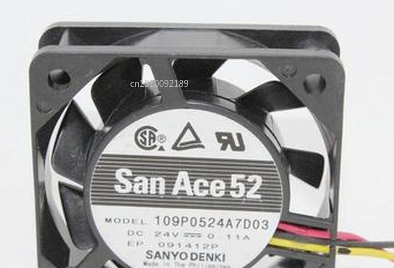 Free Shipping For SANYO DENKI SAN ACE 109P0524A7D03 5015 DC24V 0.11A 5CM Cooling Fan