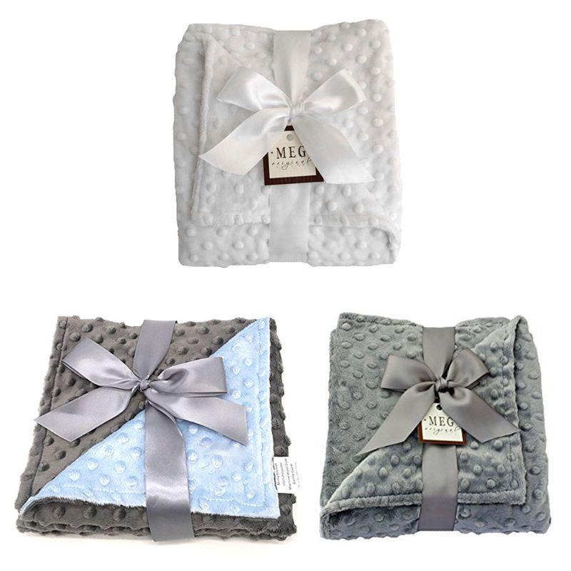 Baby Minky Blanket Newborn Soft Bedding Flannel Fleece Swaddle Wrap Blankets K4UE