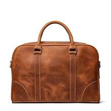 Vintage Men Genuine Leather Briefcase Bag Laptop Bag Male Luxury Office Handbag Document Case Messenger Bags Portfolio