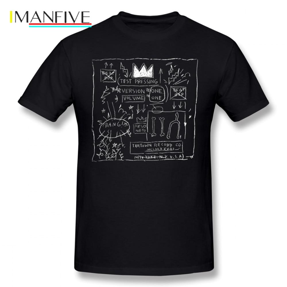 Basquiat T Shirt JEAN MICHEL BASQUIAT BEAT BOP ALBUM FAN ART T-Shirt 100 Cotton Plus size Tee Funny Fashion Tshirt
