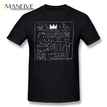 Basquiat T Shirt JEAN MICHEL BASQUIAT BEAT BOP ALBUM FAN ART T-Shirt 100 Cotton Plus size Tee Funny Fashion Tshirt