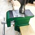 Чугунная скамейка тиски многофункциональные Ювелиры тиски зажим на скамейке тиски с большой наковальней хобби зажим на столе мини Ручной и...