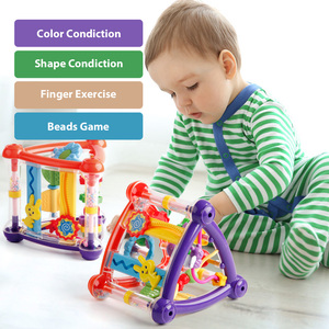 Image 2 - Toys For Baby 0 12 Months Activity Play Cube Infant Development Educational Hanging Toys Newborn Rattle Toy New Born Boy Girl