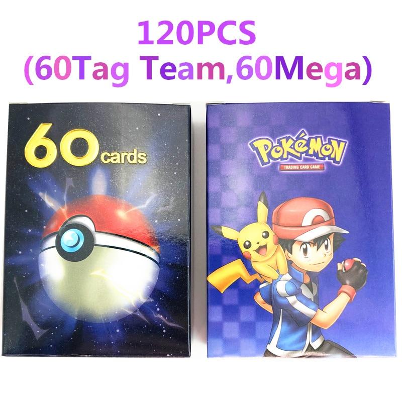 240 шт. держатель Альбом игрушки коллекции Pokemones карты Альбом Книга Топ загруженный список игрушки подарок для детей - Цвет: 120(60tag 60mega)