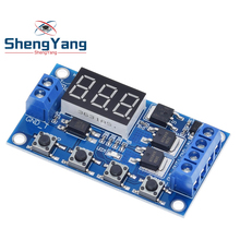 ShengYang  Trigger Cycle Timer Delay Switch 12 24V Circuit Board Dual MOS Tube Control Module