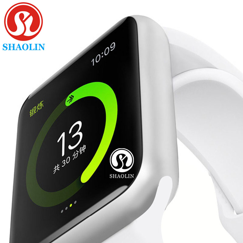 Bluetooth Smart Watch case for apple iphone xiaomi android phone smartwatch pk apple watch GT88 DZ09 (Red Button)