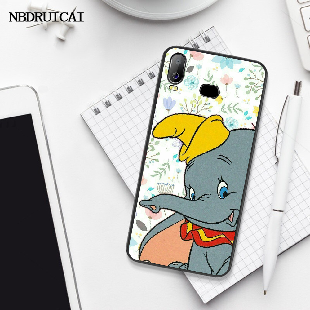 Nbdruicaiかわいい漫画アニメーションdisneysダンボ電話カバーA10 A20 A30 A40 A50 A70 A71 A51 A6 A8 2018