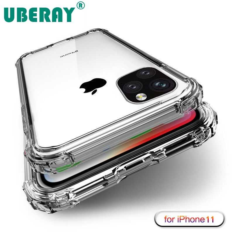 UBERAY Heavy Duty Protect Case for iPhone 11 2019 X XS Max Four Corner Strength Silicon Clear Cover For iPhone XS XR 7 8 Plus
