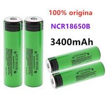 100% original novo panasonic ncr18650b 3.7v 3400mah 18650 bateria de lítio recarregável para panasonic lanterna baterias + apontou