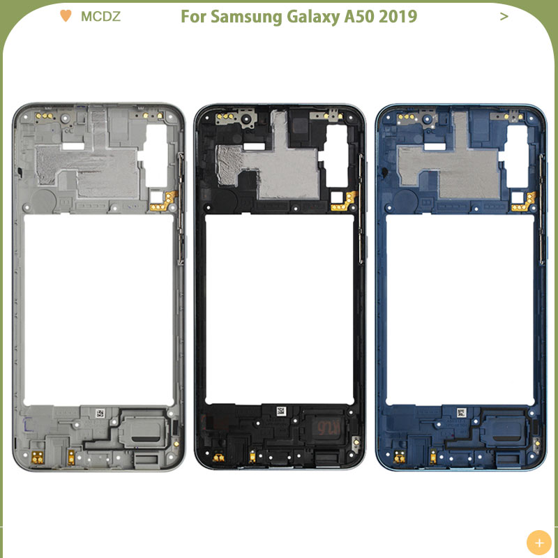 New A50 For Samsung Galaxy A50 2019 A505 A505F A505DS Full Housing Middle Mid Frame Plate Bezel+ Battery Back Cover Case