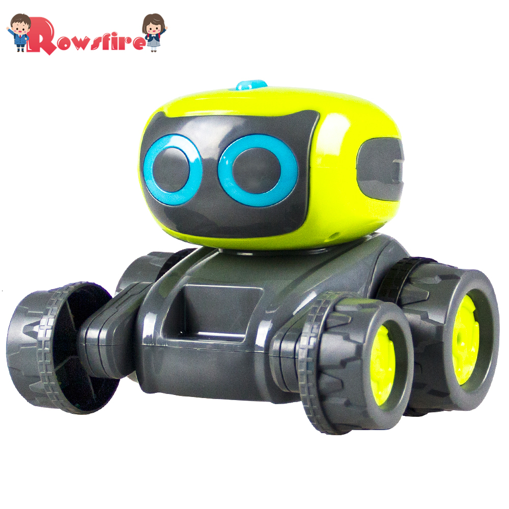 Free Shipping Smart Programming RC Robot Engineering Bulldozer Forklift Assembly Indoor Toy For Children Adult Gift Hot