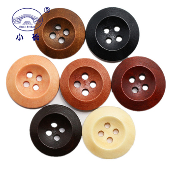 50pcs Natural Color Wooden Buttons Sewing Diy Crafts Scrapbooking 4 Hole Round Wood Button For Clothes Coat Handmade Accessories free shipping 100 pcs mixed 7 colors square wood beads letter a z cube sewing scrapbooking crafts handmade 1 hole wooden button