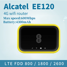 Débloqué Alcatel EE120 Cat12 600Mbps Portable 4300mAh batterie 4G LTE Mobile WiFi Hotspot Modem PK AC790S 810S E5786S(China)