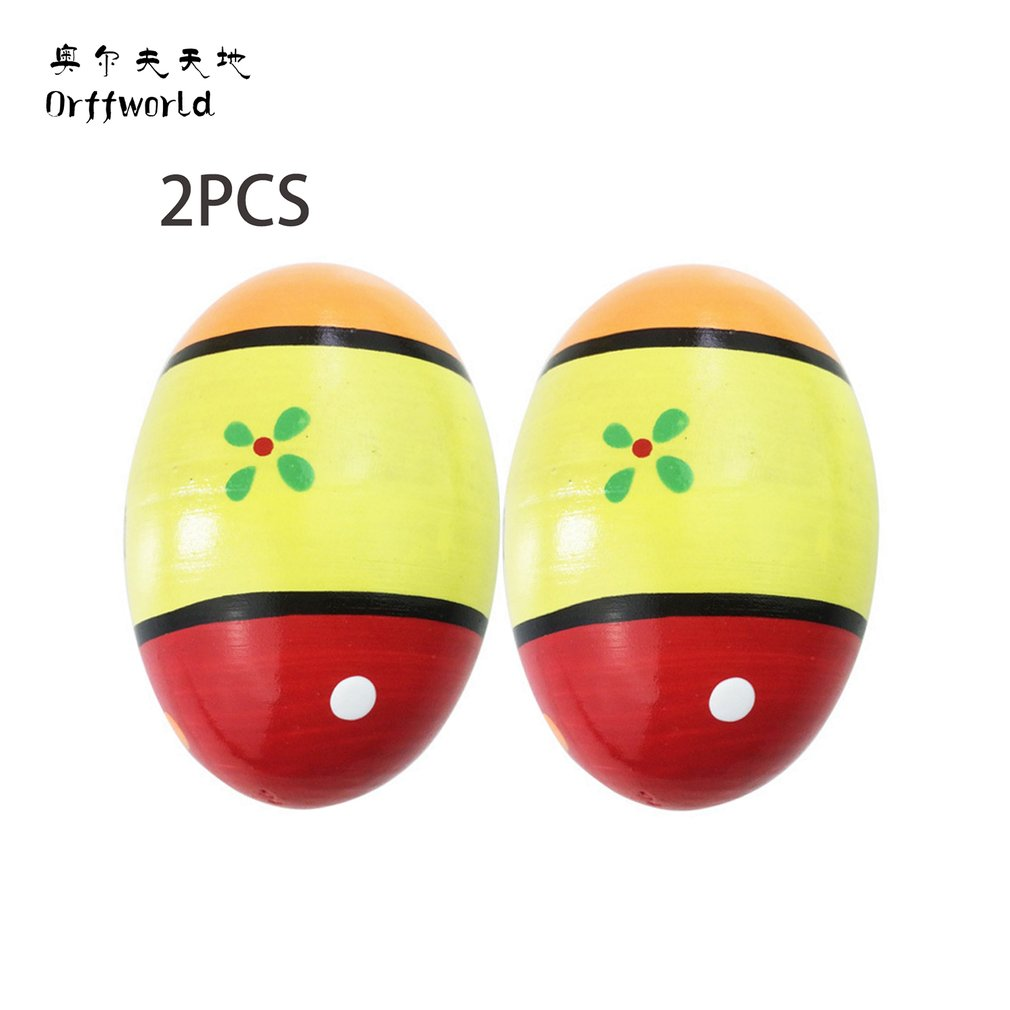 Orff World A Pair/SET Children Kids Wooden Colorful Sand Eggs Instruments Percussion Musical Toys Best Birthday Gift