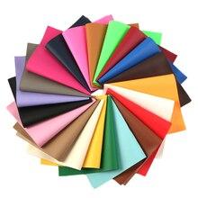 Однотонные Litchi Синтетическая кожа ткань листы для изготовления ювелирных изделий серьги ручной работы заколки для волос, 21 шт./компл., 1Yc6202