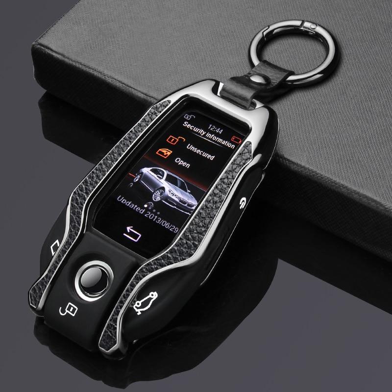 Чехол из натуральной кожи и цинкового сплава для автомобильных ключей, чехол для BMW 5, 7 серии, G11, G12, G30, G32, i8, I12, I15, G01, X3, G02, X4, G05, X5, G07, X7