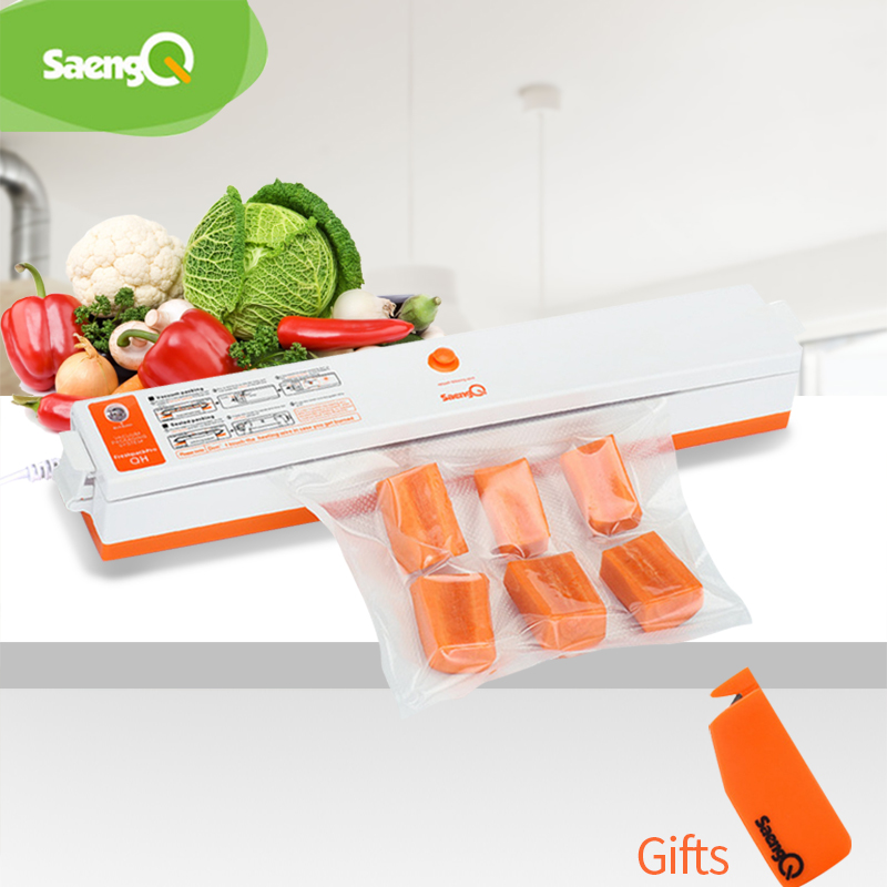 SaengQ 220V/110V Best Household Food Vacuum Sealer Packaging Machine Film Sealer Vacuum Packer Including 15Pcs Vacuum Bags Free