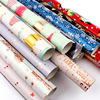 Christmas Gift Decoration Paper Birthday Gift Wrapping Paper Peace and Love Snowflake Animated Minimalist Style 50*70cm