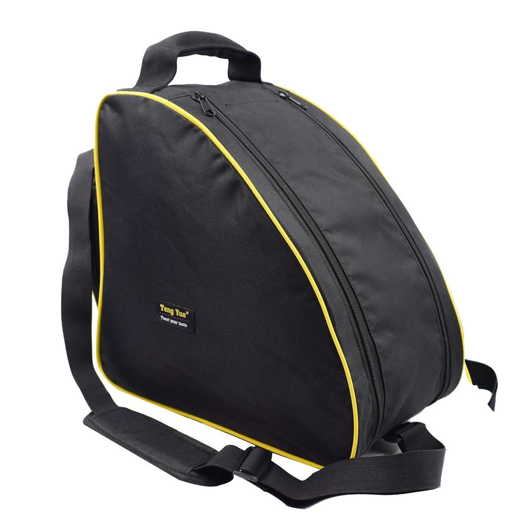 Durable Sport Travel Shoulder Strap Snowboard Ski Boot Bag Yellow Piping Luggage Bag 37 X 24 X 36cm