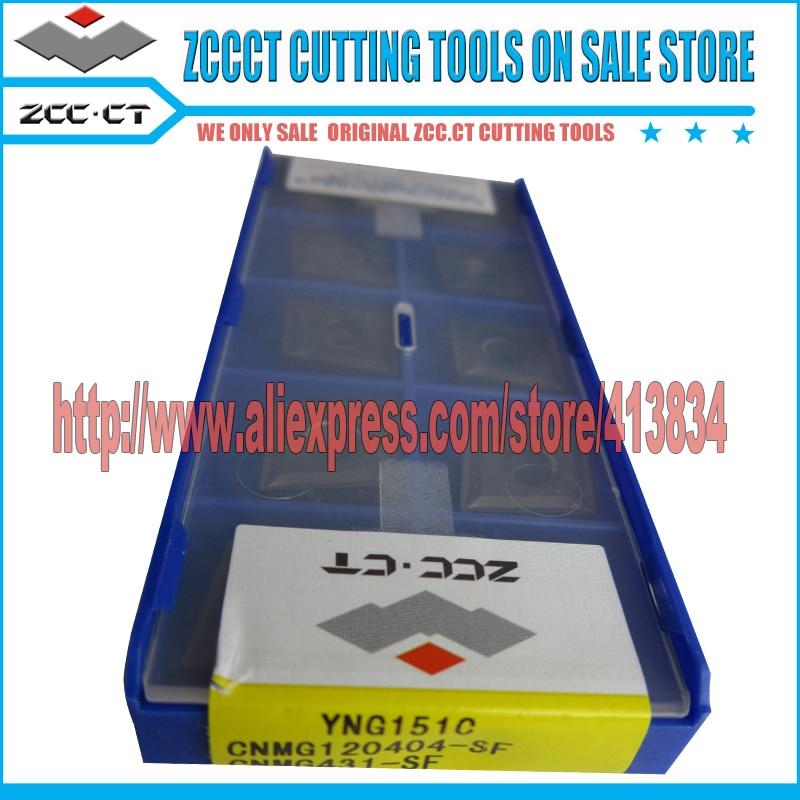 10 pièces ZCC insère CNMG120404-SF YNG151C CNMG 1204 -SF zccct cermet outil de coupe d'insertion pour CNMG120404-SF d'usinage de finition