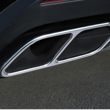 2pcs Rear Car Exhaust Tail Throat Muffler Decoration Pipe Tip Mouth Cover Accessories for VW  Touareg 2019